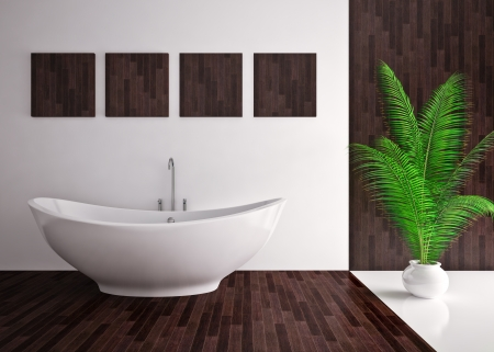Modern interior  bathroom in house, apartment Stock Photo - 19563627