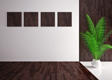 Banner on wall, Modern empty inter Stock Photo - 19563626