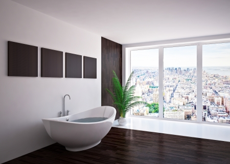 Modern interior  bathroom in house, apartment Stock Photo - 19563613