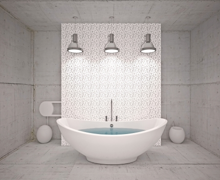 Modern inter  bathroom in house, apartment Stock Photo - 19563617