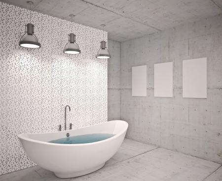 Modern interior  bathroom in house, apartment Stock Photo - 19563608