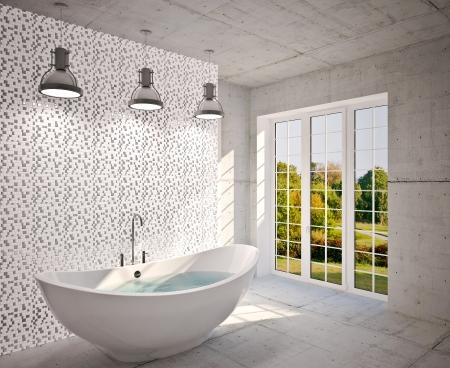 Modern interior  bathroom in house, apartment