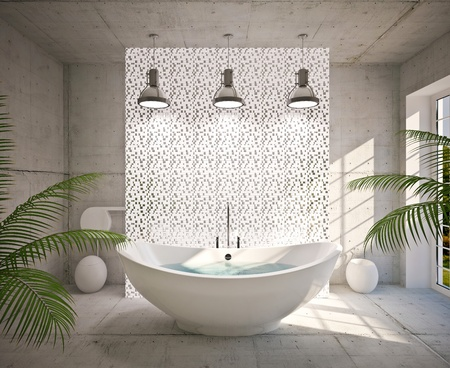beautiful location: Modern interior  bathroom in house, apartment