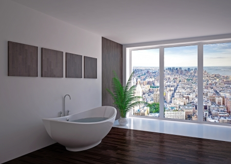 floo: Modern interior  bathroom in house, apartment