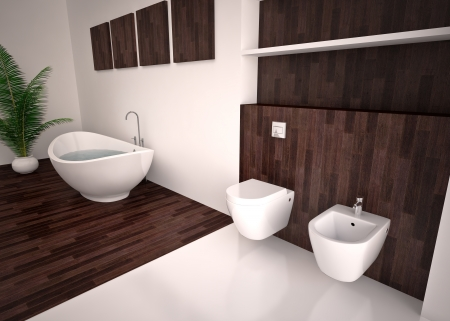 Modern interior  bathroom in house, apartment Stock Photo - 20112552