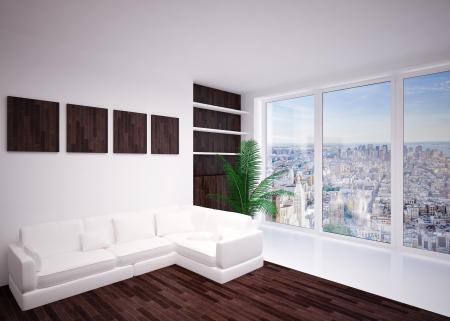 Modern  interior living room, lounge photo