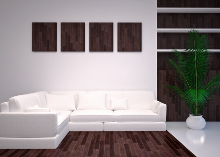 Modern  interior of living room  in house, lounge, apartment photo