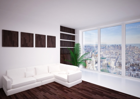 Modern  interior of living room  in house, lounge, apartment