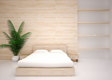 Minimal interior  Modern interior of bedroom Stock Photo - 21222295