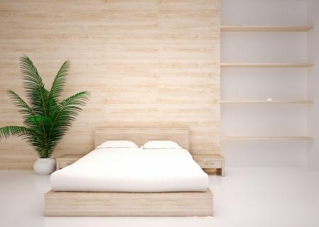 Minimal interior  Modern interior of bedroom
