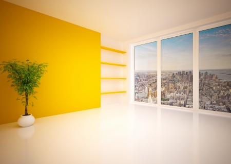 Empty modern interior living room, lounge photo