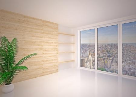 Empty modern interior living room, lounge Stock Photo
