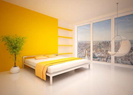 Modern inter of  bedroom Stock Photo - 20825630