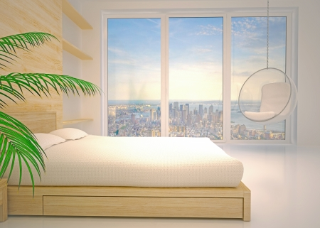 Modern inter of  bedroom Stock Photo - 20825623