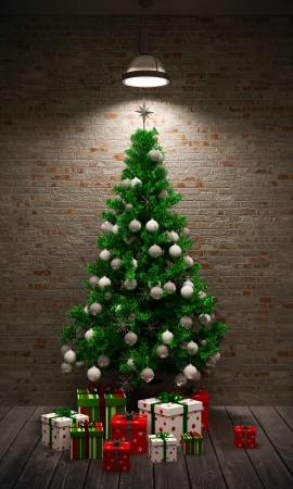 cold room: Christmas tree in the interior