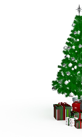 Gift christmas boxes under Christmas tree Stock Photo - 23722002