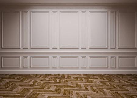 classic blank interior, 3D render