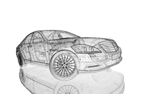 prestige car: Car 3D model body structure