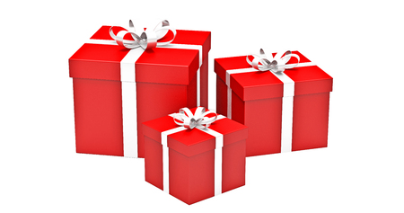gifts boxes  on  white background photo