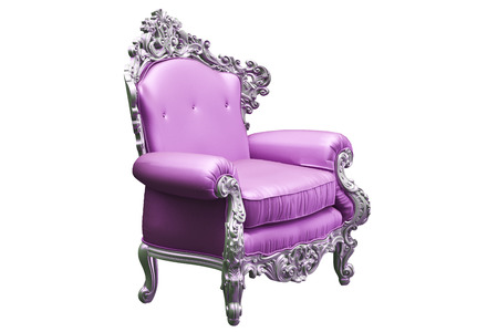 baroque room: Baroque armchair with tpink worker strikes