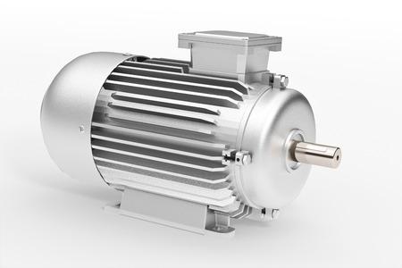 Set of t industrial electric motor ower whihte Foto de archivo