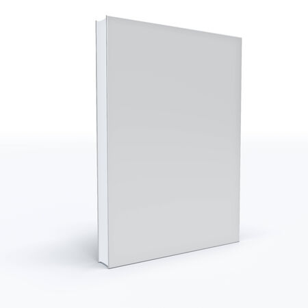 White closed book on white background   photo