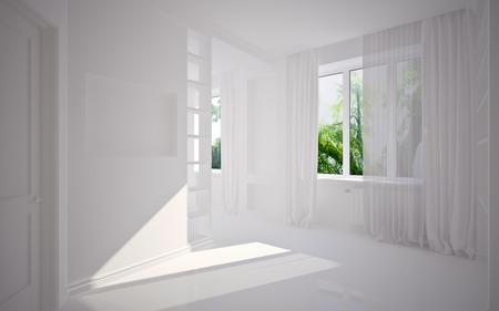 modern blank interior, 3D render Foto de archivo