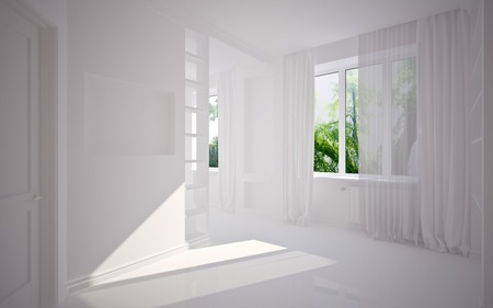 modern blank interior, 3D render photo