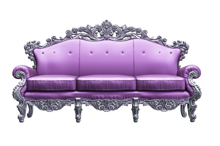 Baroque sofa  with tpink worker strikes photo