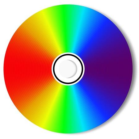 CD isolated on White  Illustration