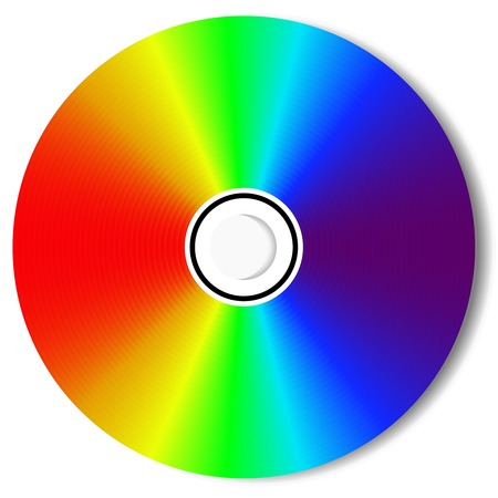 CD isolated on White  Illustration   Vector