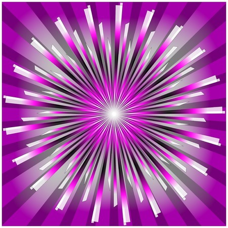 Radial Background in  color  - Illustration .