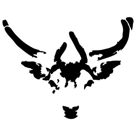 Deer portrait  Isolated on white  Vector