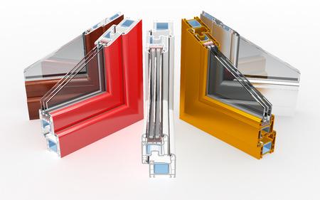 incision Pvc profile windows with triple glazing