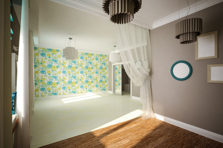 Interior empty room in modern style  Interior design photo