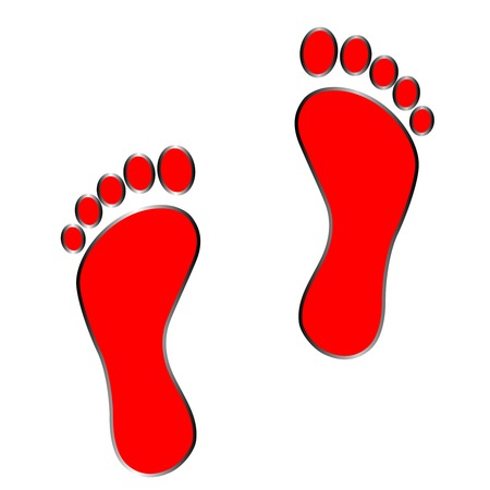 black footprint .   Isolated on white background . vektor