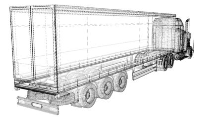 Cargo Delivery Vehicle, body structure, wire model