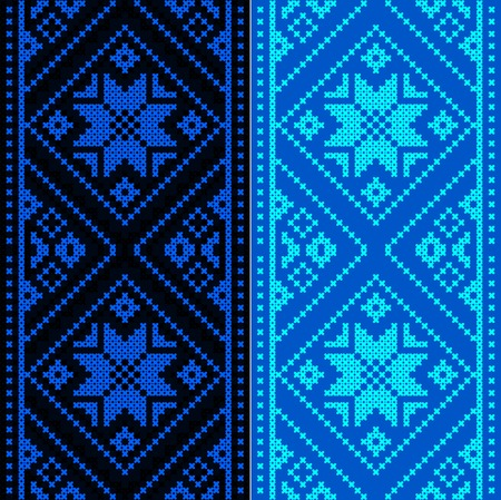 rushnik: Embroidery. Ukrainian national ornament decoration.