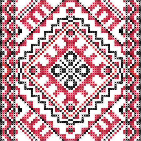 Embroidery. Ukrainian national ornament decoration.  Vector