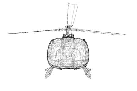 blackhawk helicopter: helicopter, 3D model, body structure , wire model