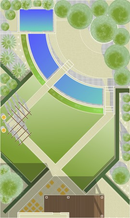 front or back yard: Landscape Architect Drawing