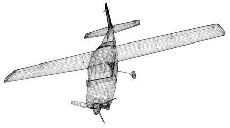Small  Airplane , model body structure, wire model photo