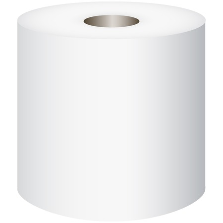 toilet paper art: Toilet Roll, toilet paper isolated on white background