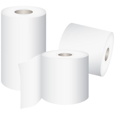 toilet roll: Toilet Roll, toilet paper isolated on white background