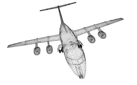Commercial Airliner, Jet,body structure, wire model Reklamní fotografie
