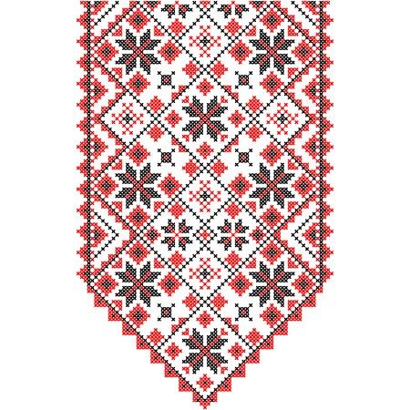 Embroidery. Ukrainian national ornament decoration.
