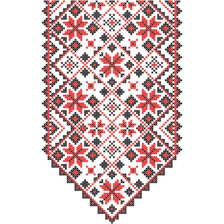 needlecraft product: Embroidery. Ukrainian national ornament decoration.