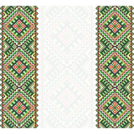 rushnik: Embroidery. Ukrainian national ornament Illustration