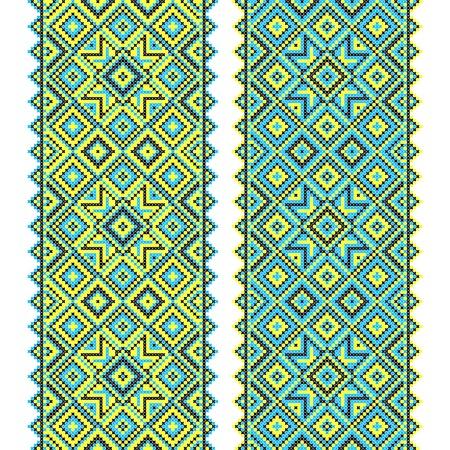 Embroidery. Ukrainian national ornament Vector
