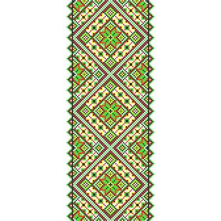 Embroidery. Ukrainian national ornament decoration illustration Vector